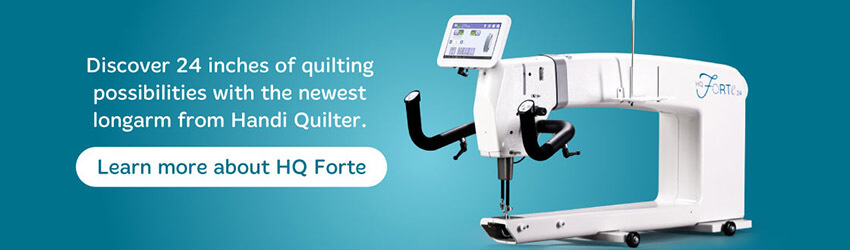 Check out the Brand new Handi Quilter Forte!