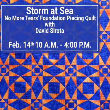 David Sirota - Storm at Sea - 'No More Tears' Foundation Piecing Quilt