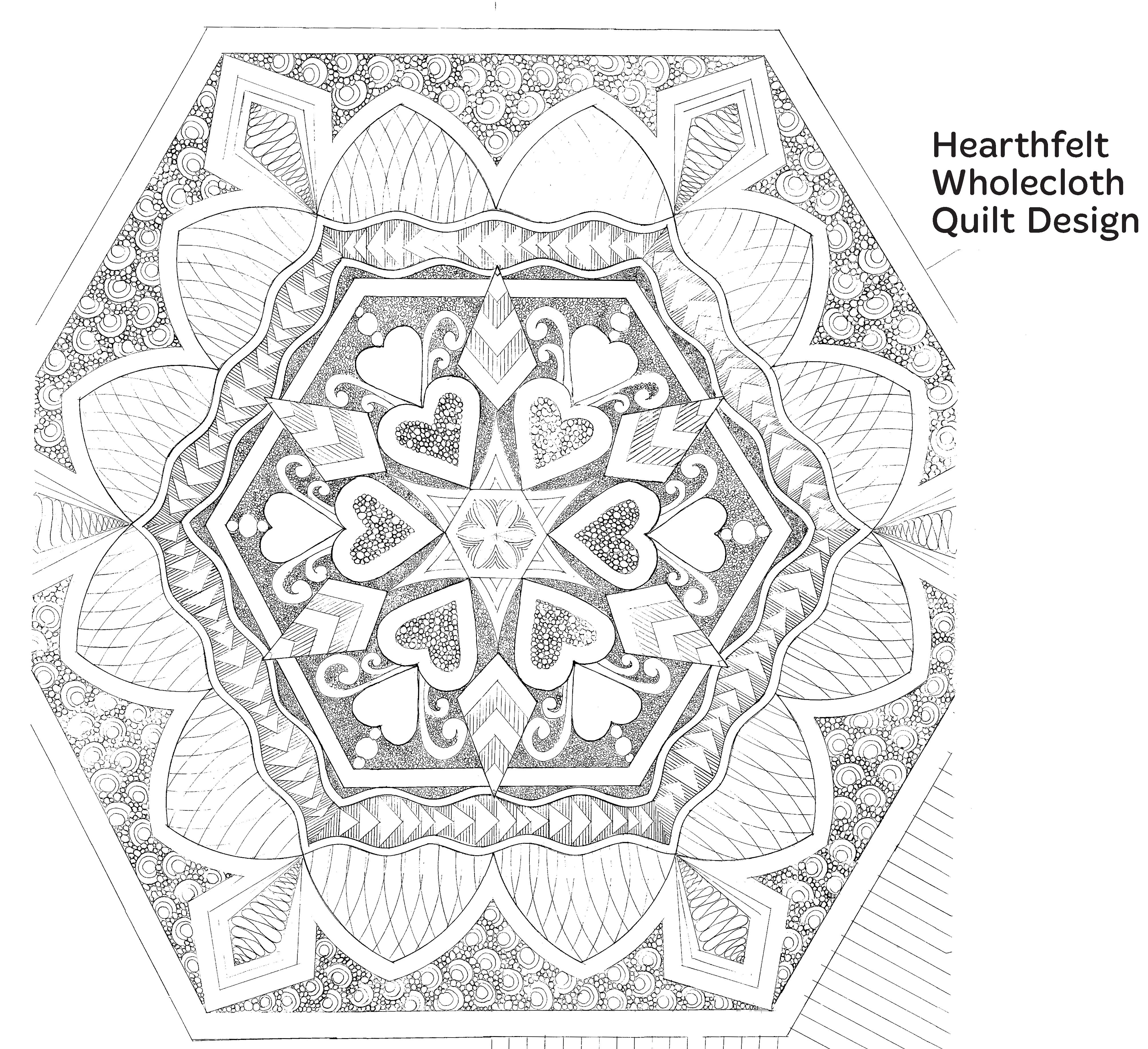 Hearthfelt Wholecloth Quilt Design