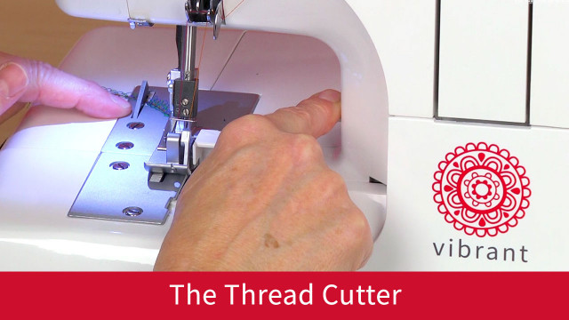 Retractable Thread Cutter with push lever