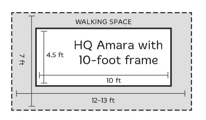 10ft Frame with Amara Walking Space