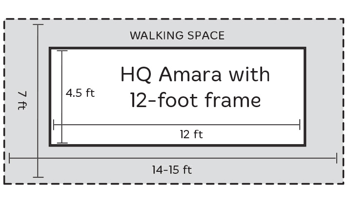 12ft Frame with Amara Walking Space