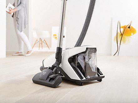 Vacuum standing up in rest position